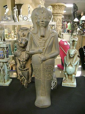 Vintage Egyptian Queen Hatshepsut Hand Carved  Natural Limestone 1970