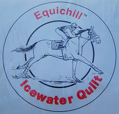 NOS Twin Pack 3M Equichill Icewater Quilt No.1409 Horse Equine Cooling Leg Wraps
