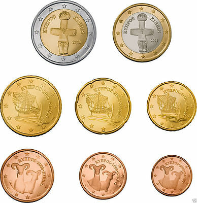 Euro set tira Chipre 2016 ,los 8 valores, 3,88. SC