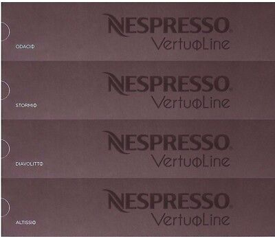40 Capsules! - Nespresso Vertuoline Intense Coffee Variety Assortment - 4 Boxes!