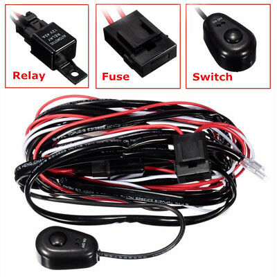 8ft 40A 12V Car Power Switch&Relay Wiring Harness durable Kit For LED Light Bar
