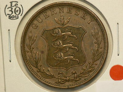 Guernsey 1858, 8 Doubles, KM# 3 #G7757