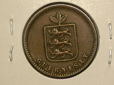 Guernsey 1858  2 Doubles  KM# 4 #G7756