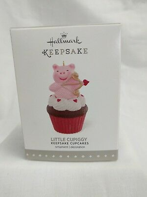 Hallmark Keepsake Ornament 2016 Little Cupiggy Cupcake February in series - NIB