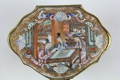 Antique Chinese Porcelain Famille Rose Box