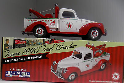 1940 FORD Texaco Wrecker #3 in USA Series 1/18th Scale  LImited Edition