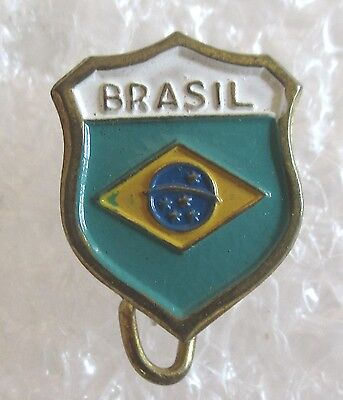 Vintage Brasil Brazil Travel Souvenir Collector Pin