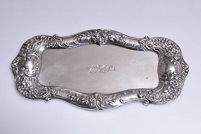 Gorham STERLING SILVER Repousse Antique Pin Trinket Dish Tray