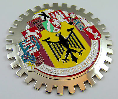 Grille Badge 10 cities German Germany car truck grill Deutschland chrome emblem