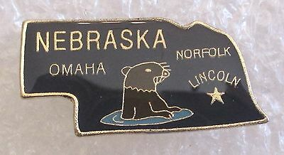 State of Nebraska Map Travel Souvenir Collector Pin