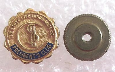 Vintage The State Life Insurance Company President's Club Pin-Lapel Screw Back