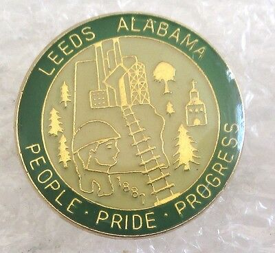 City of Leeds, Alabama Travel Souvenir Collector Pin-People Pride Progress