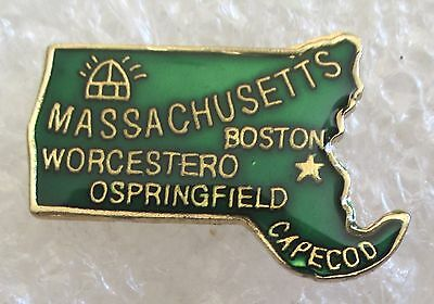 State of Massachusetts Map Travel Souvenir Collector Pin
