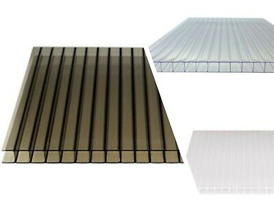 10mm Polycarbonate Twinwall Roofing Sheets Clear, Bronze, Opal Various Sizes