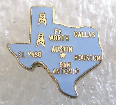 State of Texas Map Travel Souvenir Collector Pin