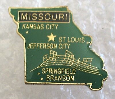 State of Missouri Map Travel Souvenir Collector Pin