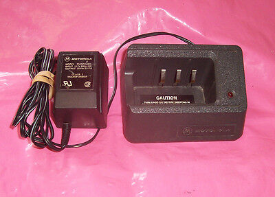 (Lot of 2) Used Motorola NTN4666A & NTN4666B Two-Way Radio Chargers