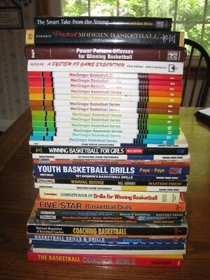 37 Book Coaching Basketball Collection Teaching Offense Defense Drills HS Youth