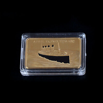 Titanic Coin Decorative Metal Crafts Gold  Commemorative Coin Art Collection X3