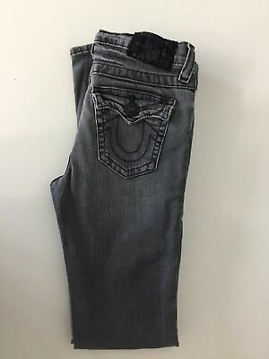 True Religion Boys Jack Grey Skinny Stretch Jeans Age 10 Years W28 L27