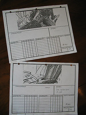 Robocop prop: Production used Robocop 2 storyboards from Phil Tippett