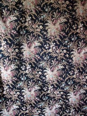 Stunning French Antique 19th Century Fabric  c1870