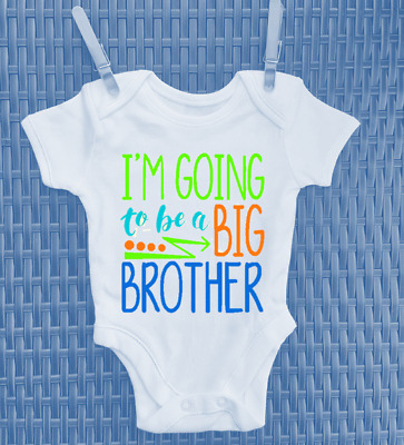 Personalised I'm going to be a Big Brother Baby Grow Bodysuit Vest Shower Gift