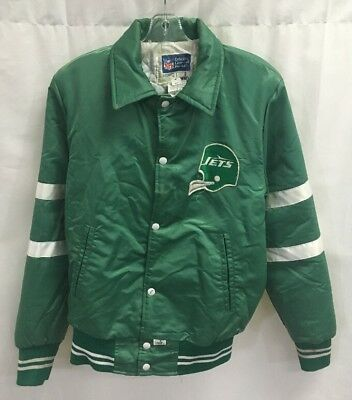 Vintage New York Jets Shain of Canada NFL Satin Jacket Size Small