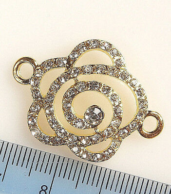 SILVER~OR~GOLD~ RHINESTONE~CONNECTOR~ CHOOSE COLOUR~OR~QUANTITY, 33 x 25 x 5 MM