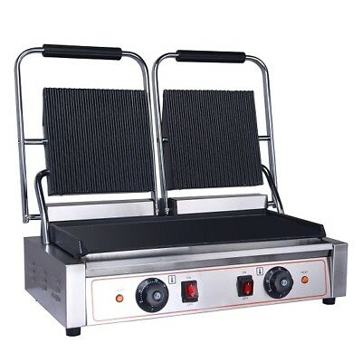 New Commercial Heavy Duty Quality Double Contact (Panini) Grill Griddle Toasted