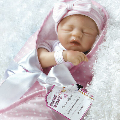 "Paradise Galleries Realistic Baby Doll - FlexTouch Silicone Vinyl 17.5"" Newborn"