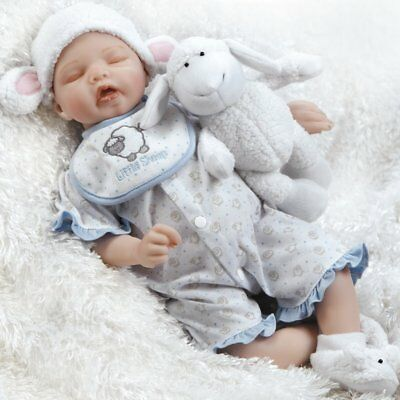 "Paradise Galleries Newborn Baby Doll ""Sweet Dreams Mary"" - 19 inch Sleeping Girl"