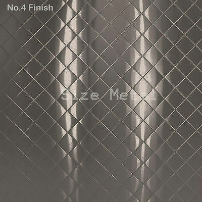 Food Truck & Restaurant Quilted Stainless Steel Sheet, #4 Finish, 24Ga x 4' x 8'
