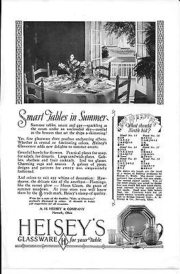 HEISEY'S GLASSWARE FOR YOUR TABLE VINTAGE 1927 MAGAZINE Original AD