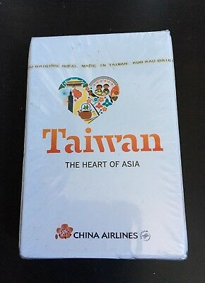 China Airlines Taiwan The Heart Of Asia Deck Of Sealed Playing Cards