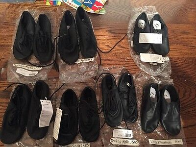 Lot Toddler Sansha Jazz Shoes Black Swing-Split Little Charlotte NIP Dance Child