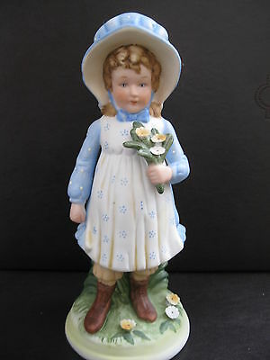 "HOLLY HOBBIE FIGURINE  World Art Inc. ""The Time to be Happy is Now""  HHF-2"