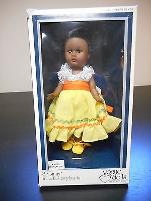 "Vogue Ginny Doll - Jamaican Girl from Far-Away Lands 8"" 1977c  w/stand"