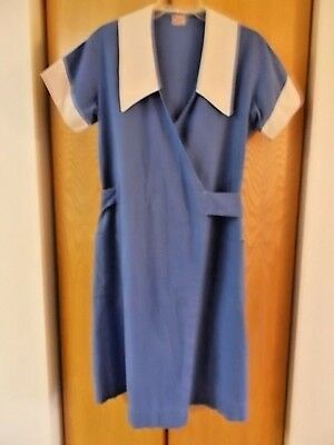 Vintage Angelica Candy Store Uniform, Blue and White 1940s