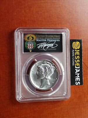 2017 $25 Palladium Eagle Pcgs Ms70 Cleveland First Day Issue Premium Label