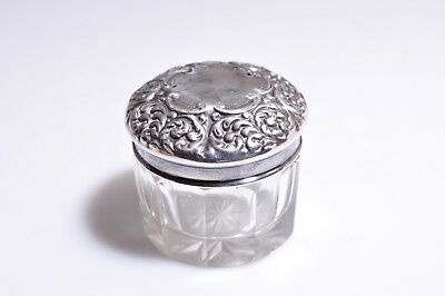 Antique Sterling Silver Small Vanity Jar