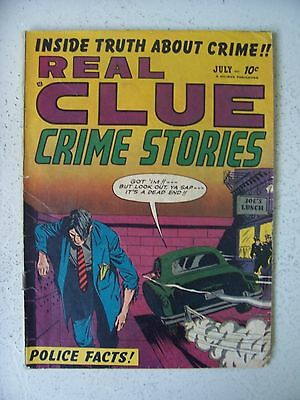 REAL CLUE CRIME STORIES Vol.6 #5 VG/F