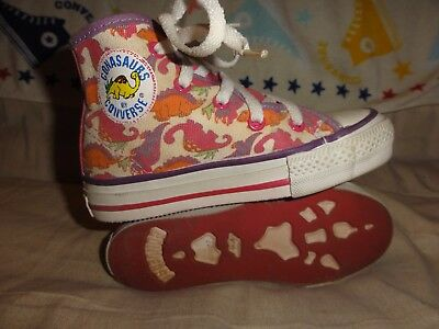 VINTAGE CONVERSE KIDS CONASAUR HIGH TOPS SIZE 11 KIDS VERY RARE 1980s