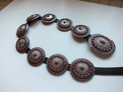 Navajo Sunshine Reeves Coral Cluster Sterling  Concho Belt A Good Story
