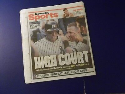Aaron Judge 'sets Rookie Hr Record' Newsday  9/26/17