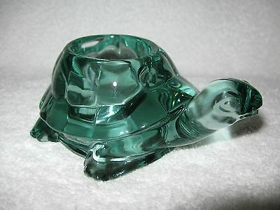 Spanish Green Turtle Votive Candle Holder Indiana Glass