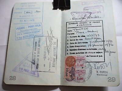 Vintage Passport Usa 1971 48 Pages Reisepass Fully Stamped 5-34.
