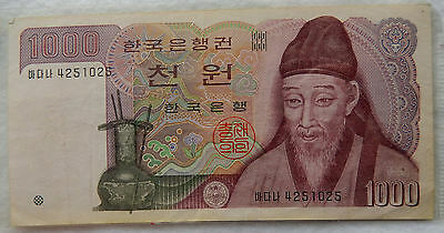 1983 South Korea 1000 Won Banknote P.47 SB3911