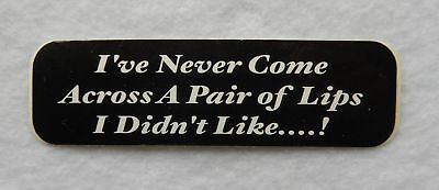 """Motorcycle Helmet Decal / Sticker """"I've Never Come Across A Pair of...""""  SB4950"""
