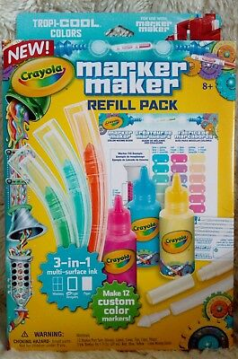 Crayola Marker Maker Refill Pack Tropi-COOL Colours Brand new